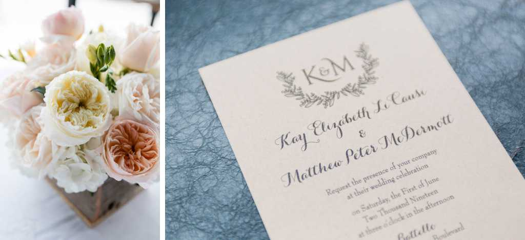 new jersey wedding invitation and flowers