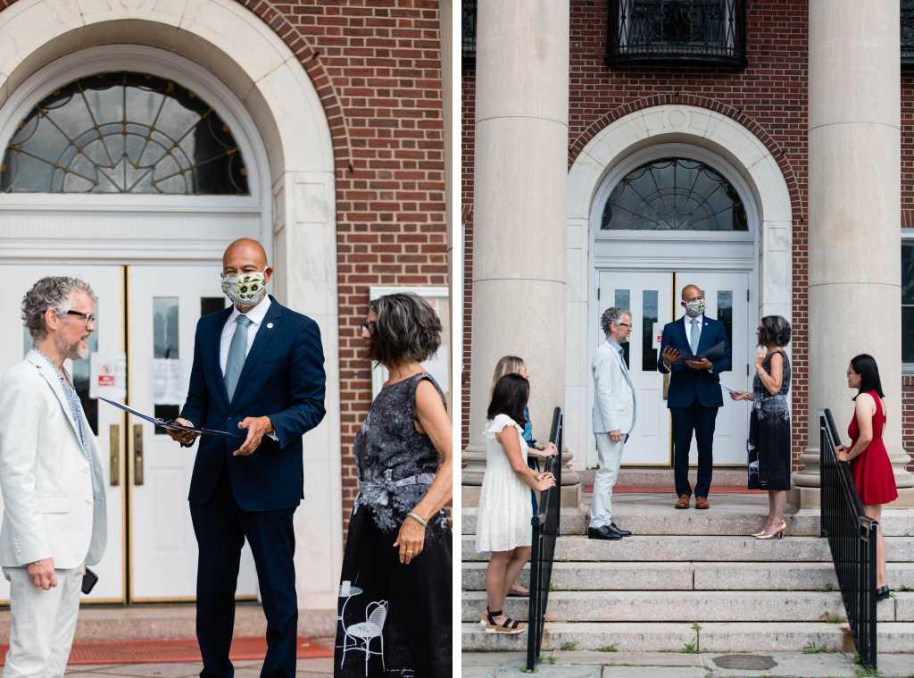 maplewood new jersey town hall wedding ceremony