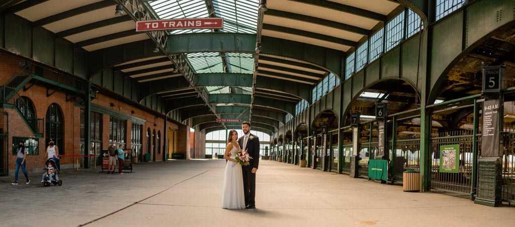 new jersey train station wedding photos