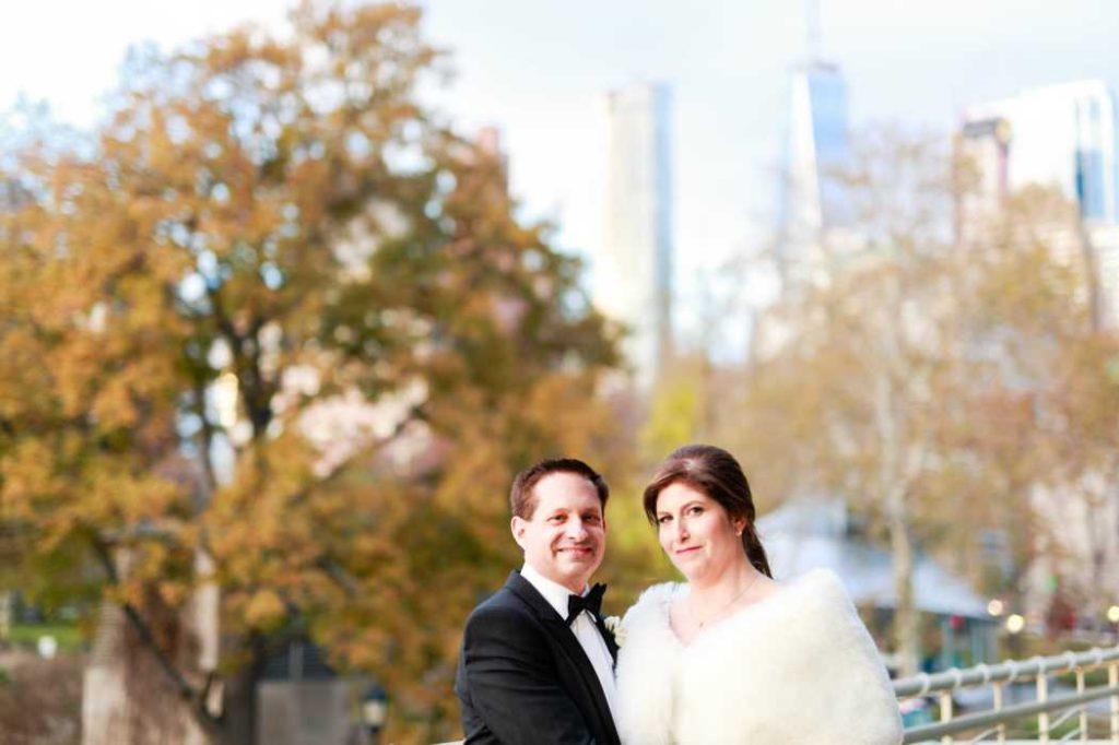 bride and groom portraits new york city