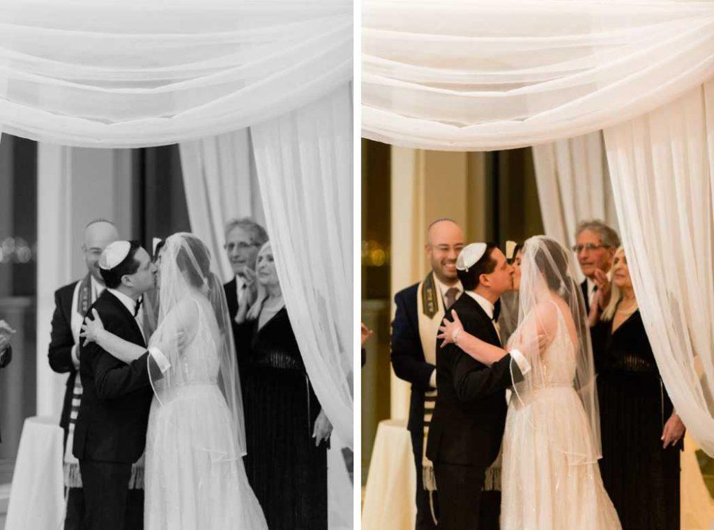 first kiss new york city wedding