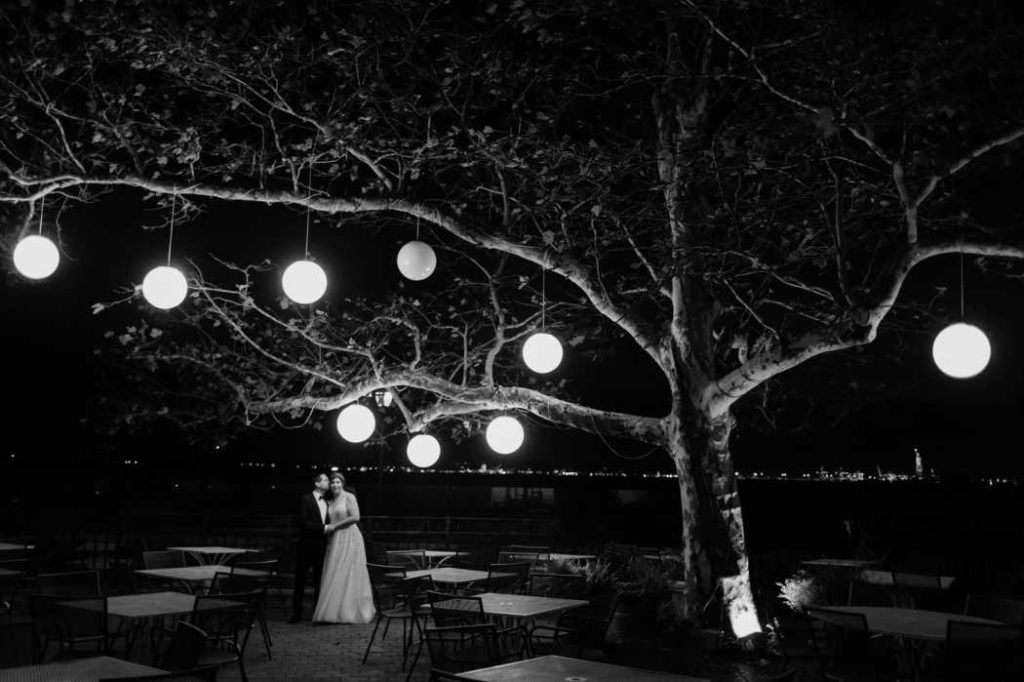 view at battery park wedding new york city