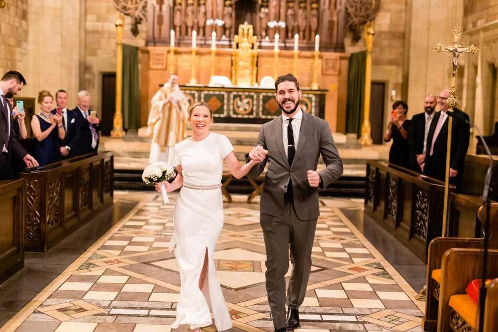 New York City candid wedding ceremony photos