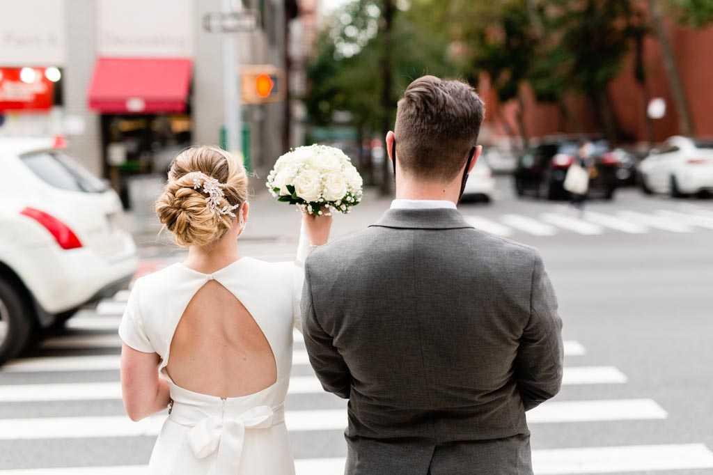 NYC covid pandemic wedding photos