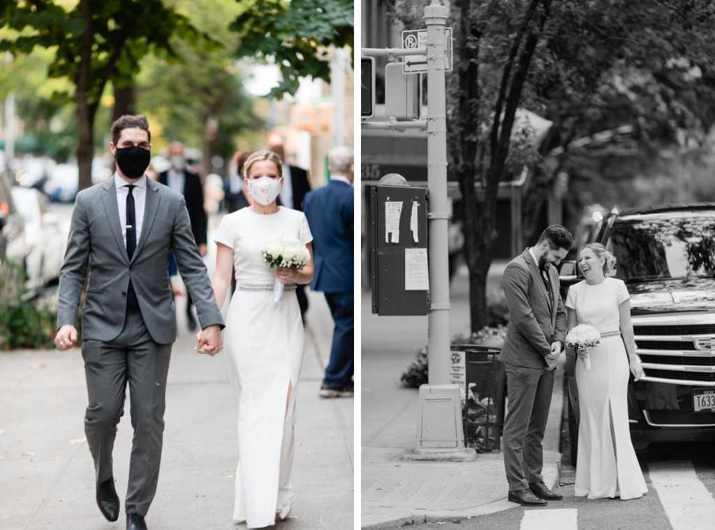 new york city covid pandemic wedding photos