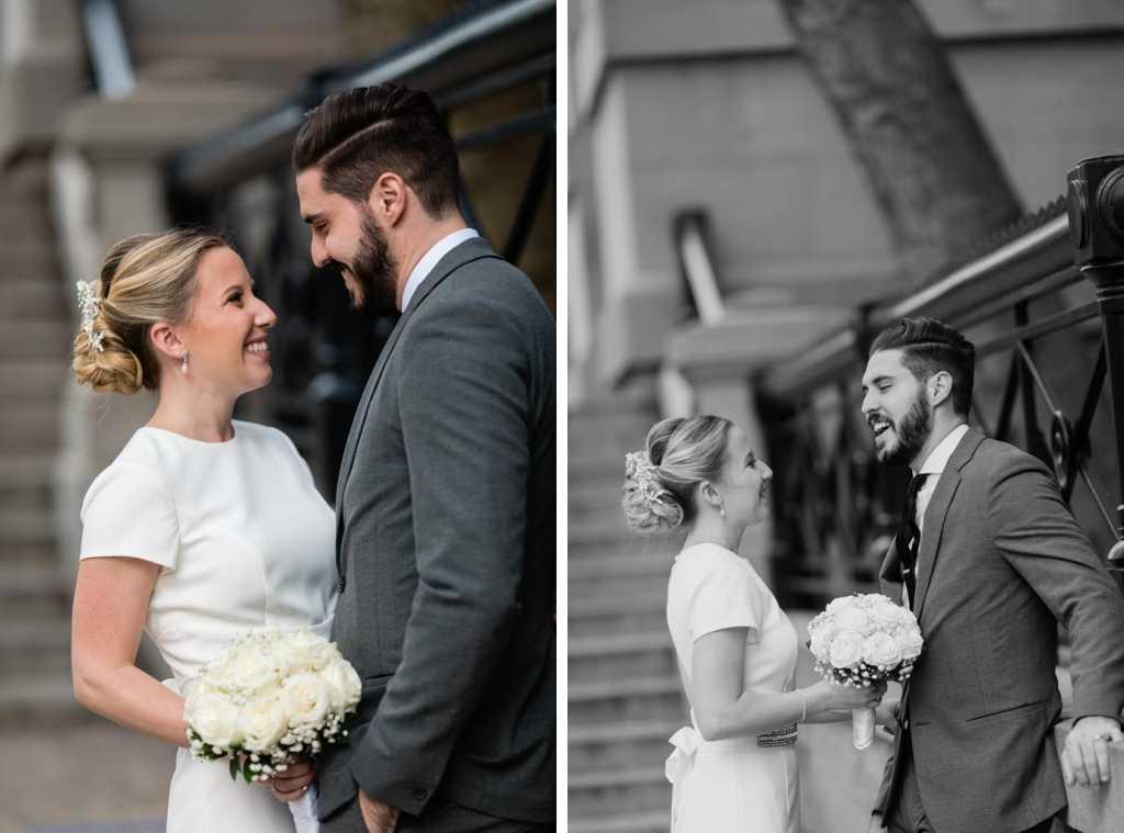 nyc wedding photos bride and groom