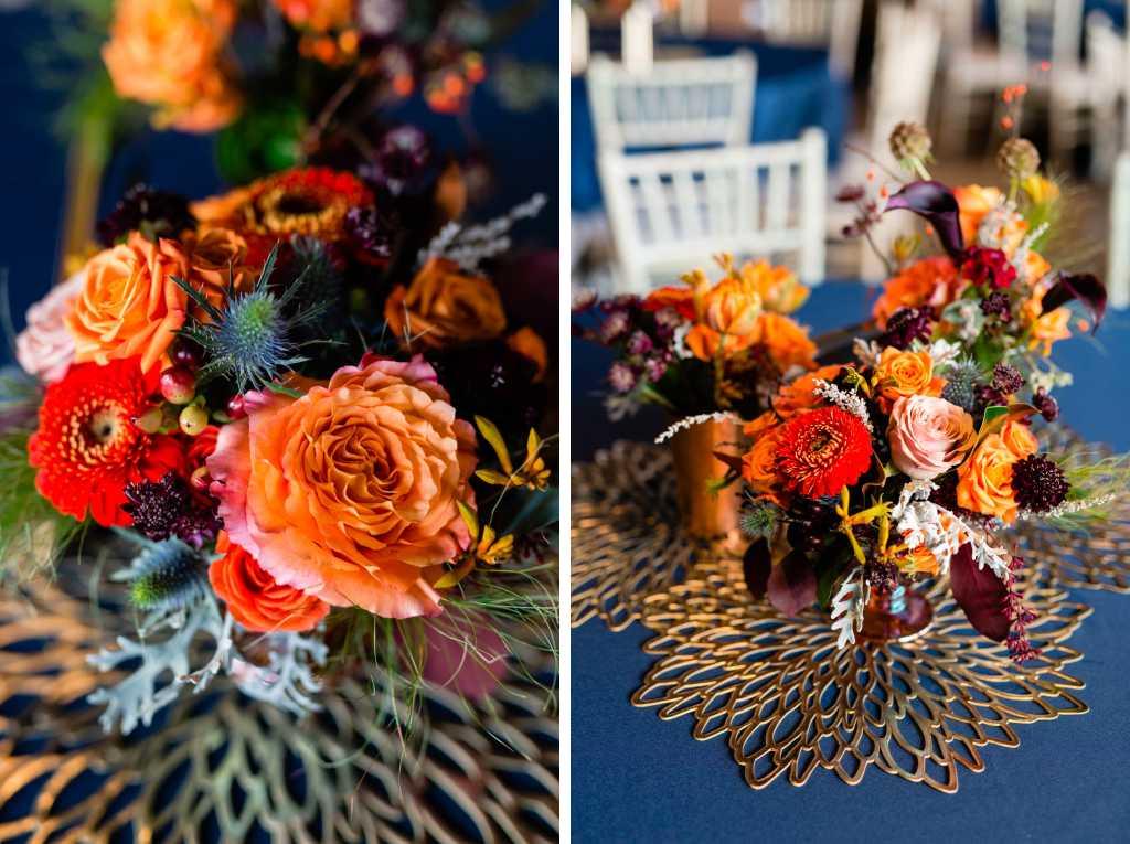 fall wedding flowers centerpieces