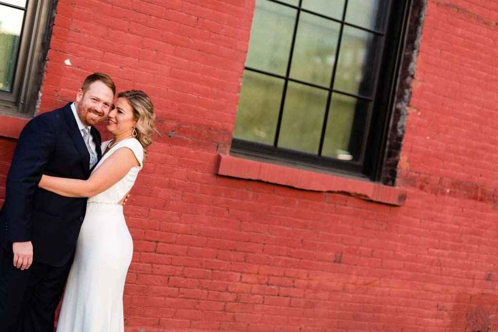 DUMBO brooklyn wedding portraits by photographer casey fatchett