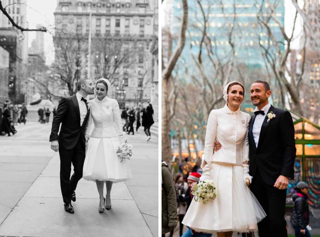stylish couples elopes has wedding in nyc
