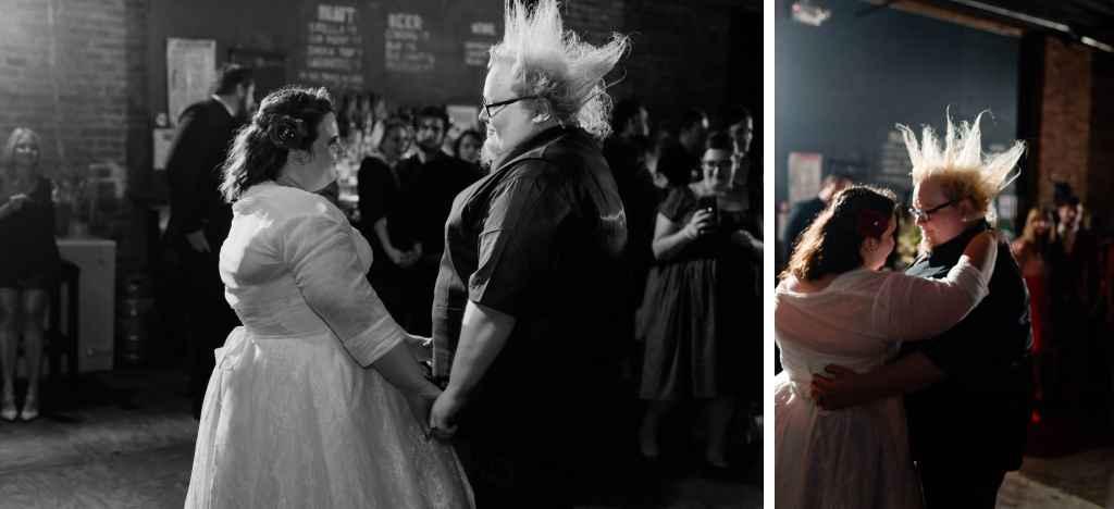 first dance nerdy wedding couple