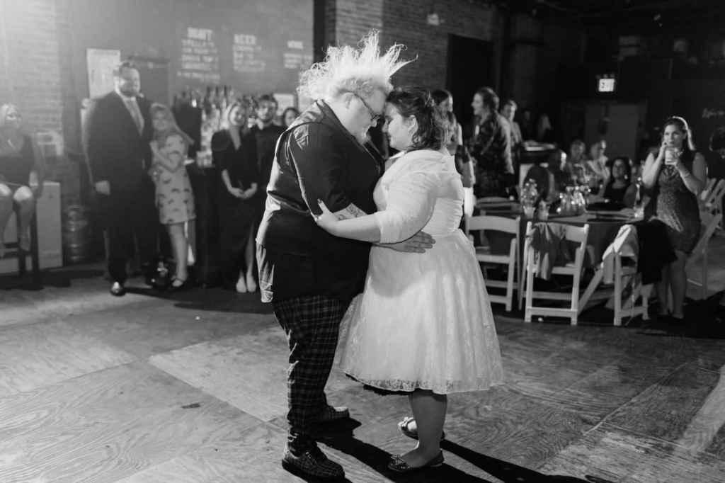 first dance nerdy geek brooklyn wedding photographer