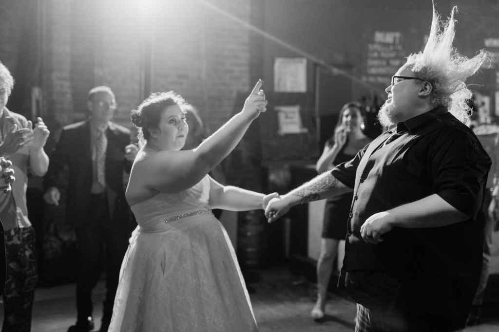 geek nerdy non traditional brooklyn wedding