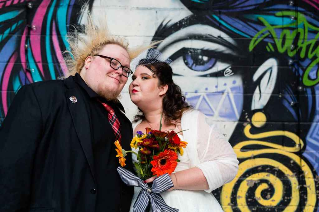 offbeat non traditional brooklyn wedding