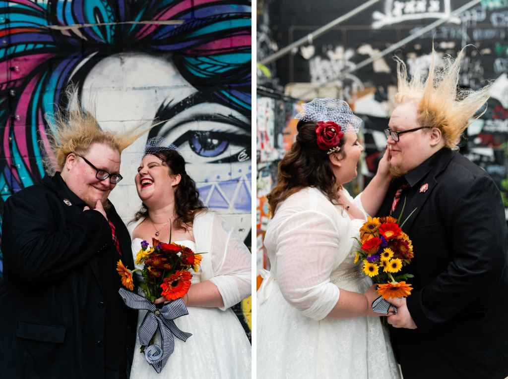 non traditional brooklyn wedding