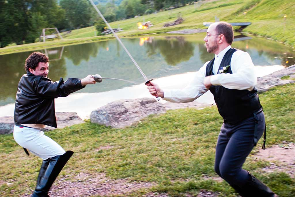 sword fight at renaissance festival wedding upstate new york