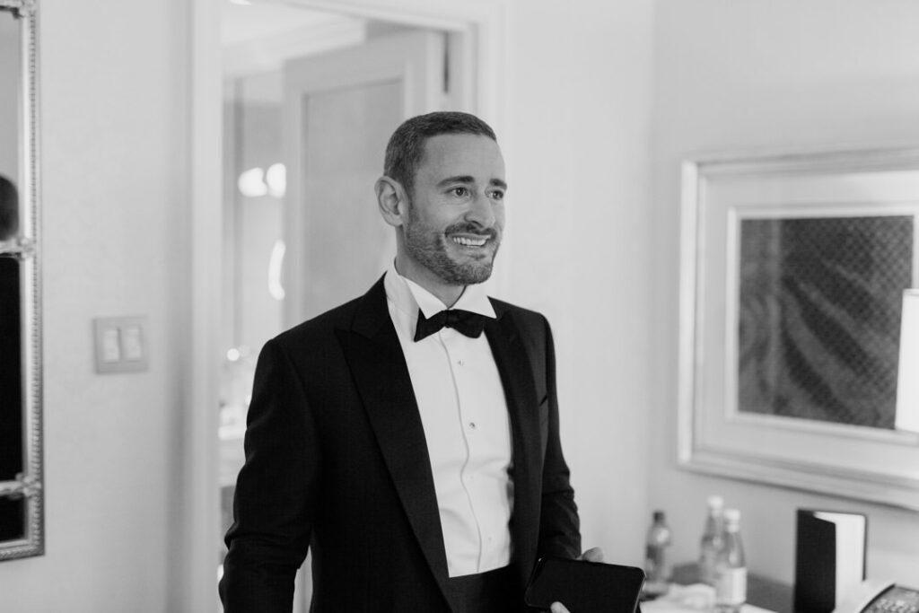 stylish groom before wedding
