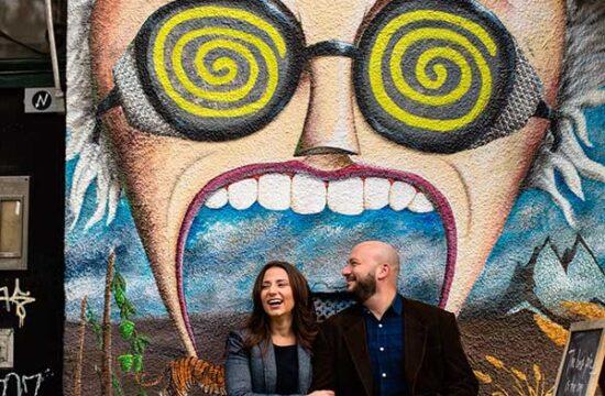 Fun NYC engagement photo