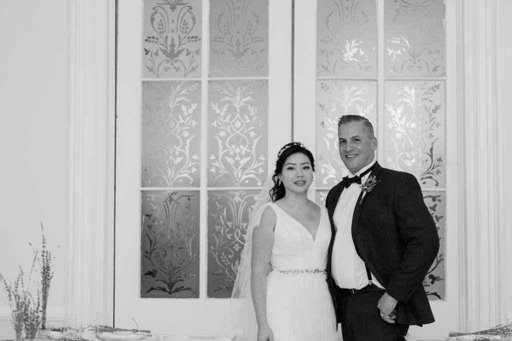 bride and groom casual intimate wedding photos