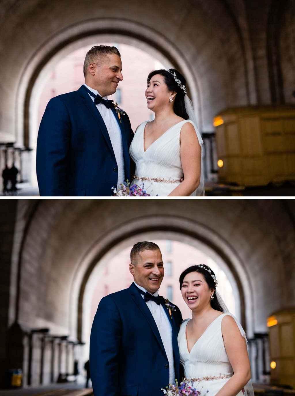 DUMBO brooklyn candid wedding photos photographer