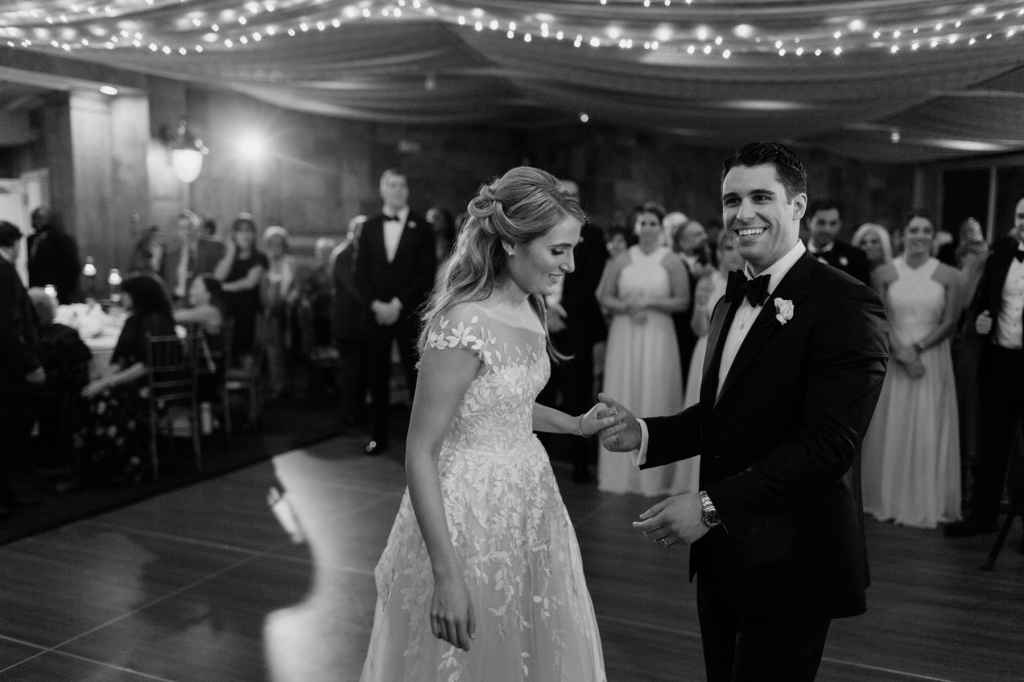 bride and groom first dance photos tappan hill mansion wedding