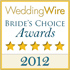 WeddingWire Brides Choice Award 2012